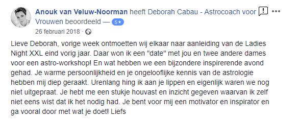 Deborah Cabau I Astrologie I Sterrenbeelden I facebook recensie 21